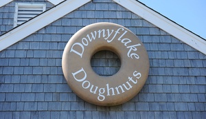exterior of Downyflake Doughnuts on Nantucket, MA